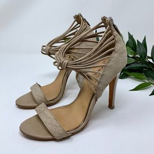 Badgley Mischka Mark + James Snakeskin Heel 8.5